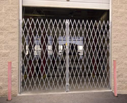 Heavy duty steel folding gates -- door, single, double